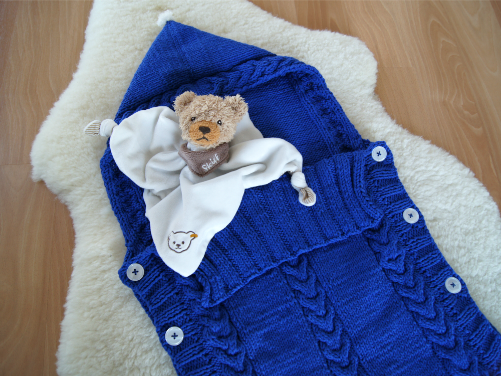 Kuscheliger Schlafsack für Babys {Freebook}