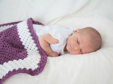 Baby Decke für das Fotoshooting