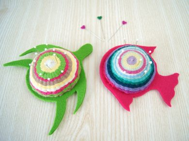 DIY Nadelkissen mit bunten Tieren weben - Gestalten für Kinder | von Fantasiewerk