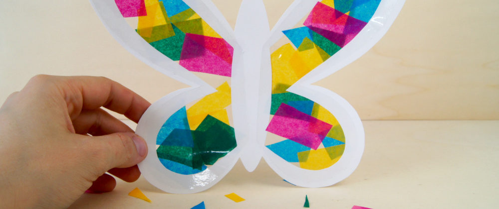 Schmetterlinge aus Seidenpapier